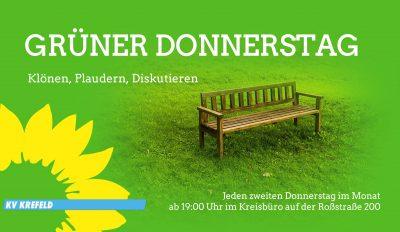 GRÜNER DONNERSTAG - Klönen, Plaudern, Diskutieren