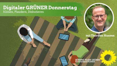 Digitaler GRÜNER DONNERSTAG - Klönen, Plaudern, Diskutieren @ Digital (Jitsi)