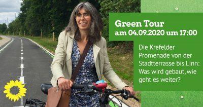 GreenTour: Die Krefelder Promenade- von der Stadtterrasse bis Linn: Was wird gebaut, wie geht es weiter @ Treffpunkt Saumstraße/Ecke Gladbacher Str.